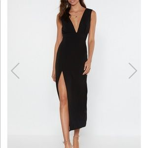 NWT - Nasty Gal Deep On Dancing Midi Dress